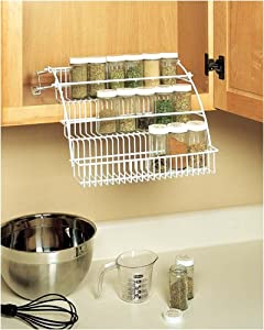 Rubbermaid pull down spice rack instructions
