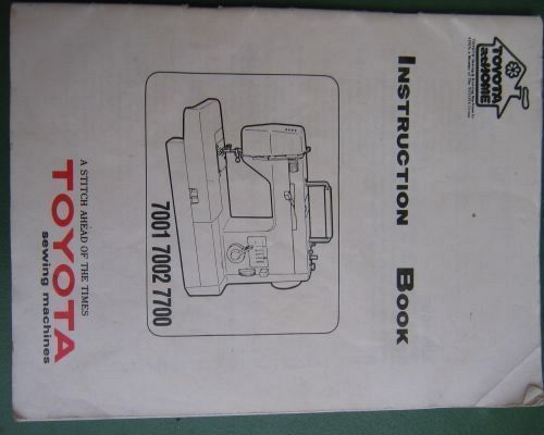 toyota industrial sewing machine manual