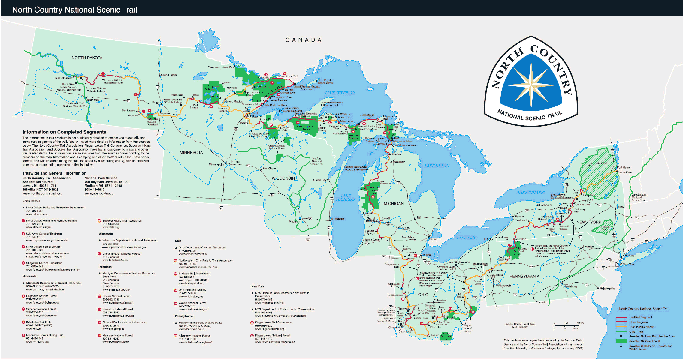 Guide to the north country national scenic trail in minnesota