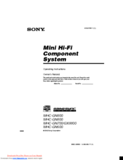 sony home stereo systems manual