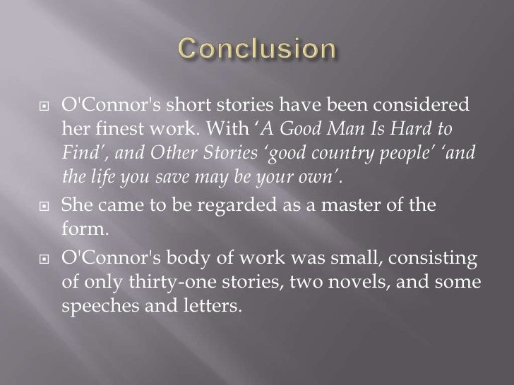 A good man is hard to find short story pdf