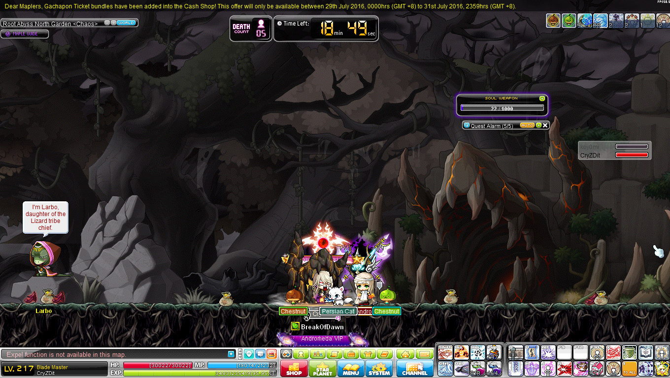 Maplestory root abyss set how to get