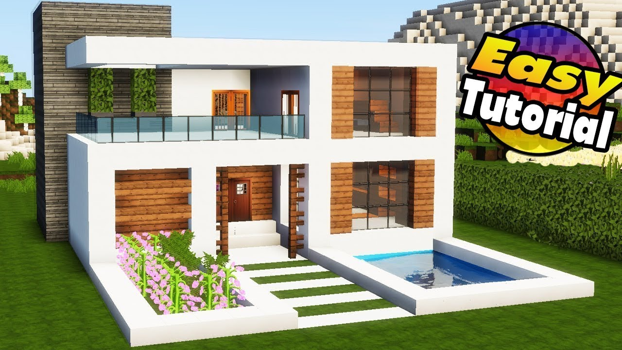 Minecraft modern house tutorial step by step pictures